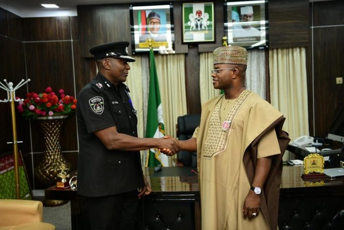 Gov. Bello receives new CP, reiterates commitments to securing kogites