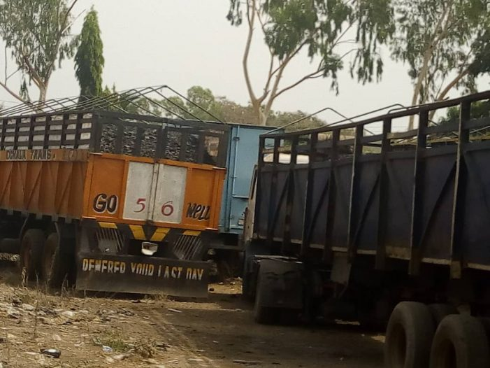 NSCDC Impounds 20 Trucks of Coal in Kogi