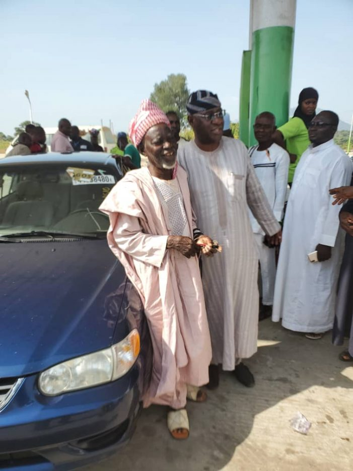 Ajaokuta Chief Imam Received Car Gift From Hon. Lawal