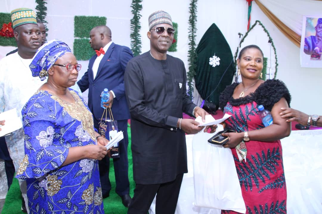 YULETIDE: Kogi Speaker Put Smiles On 300 Widows, Donates Foodstuff, Cloths Worth Millions Of Naira