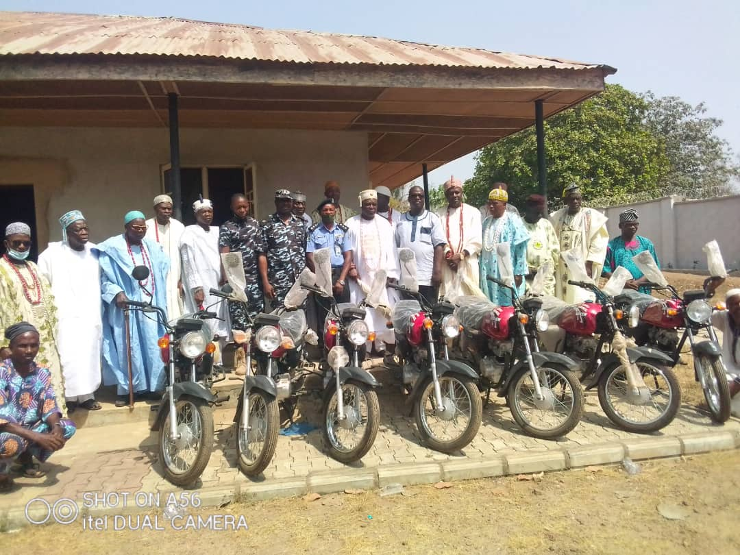 Insecurity: Ijumu Security Trust Fund Donates Motorcycles To Police In Kogi